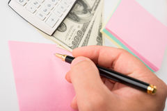 Concept of finances Stock Images