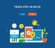 Concept - finances, informations financières et analyse, gestion prévisionnelle Photos libres de droits