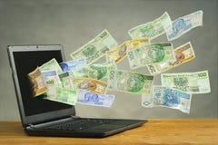 Concept financiën in cyberspace stock afbeelding