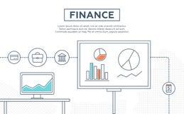 Concept financiën, menigte financiering, groeiende bedrijfswinst stock illustratie