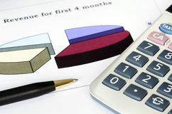 Concept of financial analysis Stock Photo