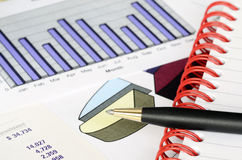 Concept of financial analysis Stock Image