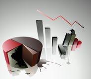 Concept of a financial crisis Royalty Free Stock Photos