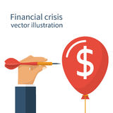 Concept financial crisis. Abstract concept financial crisis. Financial collapse, crash. Economy problem: recession inflation bankruptcy. The loss of income Stock Image