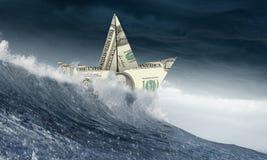 Concept of financial crisis. Mixed media Royalty Free Stock Photo
