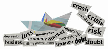 Concept of financial crisis Royalty Free Stock Photo