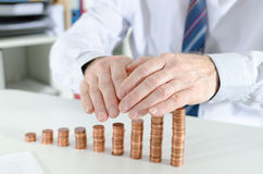 Concept of financial protection Stock Images