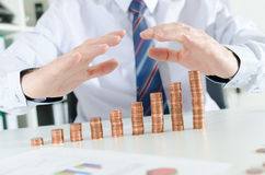 Concept of financial protection Royalty Free Stock Photography