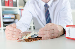 Concept of financial protection Stock Photography