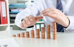 Concept of financial protection Stock Photos