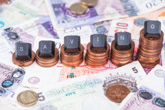 Concept of financial savings background Stock Photography