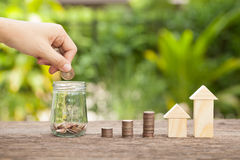 The concept of financial savings to buy a house. Royalty Free Stock Photo