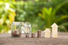 The concept of financial savings to buy a house. Royalty Free Stock Photos