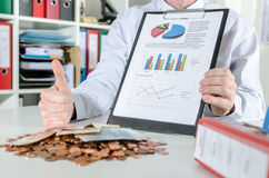 Concept of financial success Stock Images