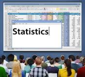 Concept financier économique de recherches d'analyse de stat de statistiques images libres de droits