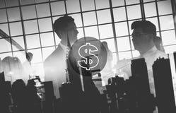 Concept financier d'économie d'argent de devise de dollar US photographie stock libre de droits