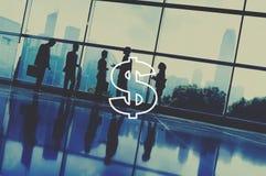 Concept financier d'économie d'argent de devise de dollar US images libres de droits