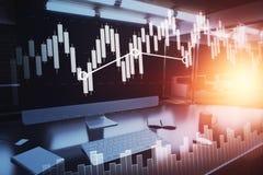 Concept financier d'accroissement Photographie stock