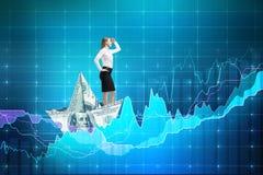 Concept financier d'accroissement photographie stock libre de droits