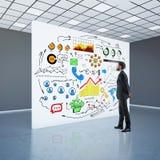 Concept financier d'accroissement Photos stock