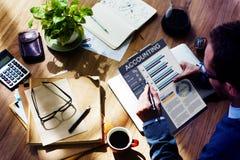 Concept financier d'affaires de document d'équilibre d'Accouting Ananlysis Images stock