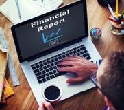 Concept financier d'analyse de croissance d'argent liquide d'argent de rapport Image libre de droits