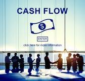 Concept financier d'argent d'affaires de flux de liquidités Photographie stock libre de droits