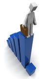Concept financier de baisse d'affaires de récession d'économie Photos libres de droits