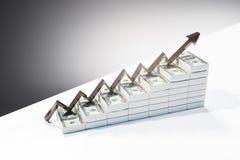 Concept financier de croissance et d'argent illustration stock
