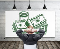 Concept financier de croissance et de succès Image libre de droits
