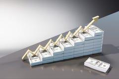Concept financier de croissance et de salaire illustration de vecteur
