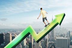 Concept financier de croissance et de succès photos stock