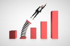 Concept financier de croissance et de succès illustration libre de droits