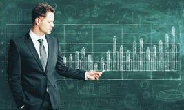 Concept financier de croissance et de succès photographie stock