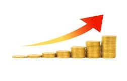 Concept financier de réussite Photo stock