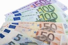 Concept financier : Modèle en gros plan fait en euro devise Bankn Photos libres de droits