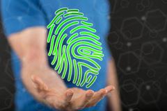 Concept of fingerprint security system Stock Photos
