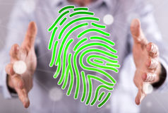 Concept of fingerprint security system Royalty Free Stock Photo