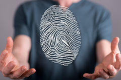 Concept of fingerprint security system Stock Image