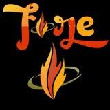 Concept fire logo. Icon concept fire logo vector Stock Photo