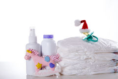 Concept first Christmas New Year baby Stock Photography