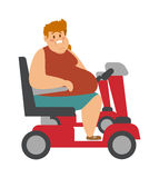 Concept fitness weight loss fat man and thin sports guy, fatman on a diet with transportation truck. Concept fitness weight loss fat man and thin sports guy Stock Photography
