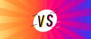 Concept flat modern background battle. Concept Versus screen. flat modern background battle royalty free illustration