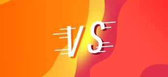 Concept flat modern background battle. Concept Versus screen. flat modern background battle vector illustration