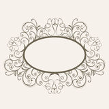 Concept of floral design decorated frame. Royalty Free Stock Photography