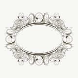 Concept of floral design decorated frame. Royalty Free Stock Images