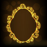 Concept of floral design decorated frame. Stock Photography