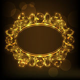 Concept of floral design decorated frame. Royalty Free Stock Photo