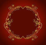 Concept of floral design decorated frame. Stock Images