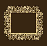 Concept of floral design decorated frame. Stock Photo